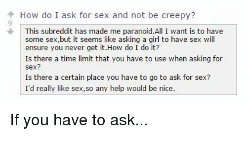 how to ask girl for sex № 372226