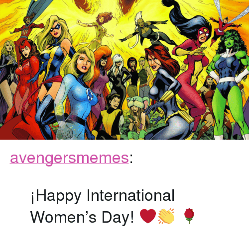 "Target, Tumblr, and International Women's Day: <p><a href=""http://avengersmemes.tumblr.com/post/140681814774/happy-international-womens-day"" class=""tumblr_blog"" target=""_blank"">avengersmemes</a>:</p>  <blockquote><p>¡Happy International Women's Day! ❤️👏 🌹</p></blockquote>"