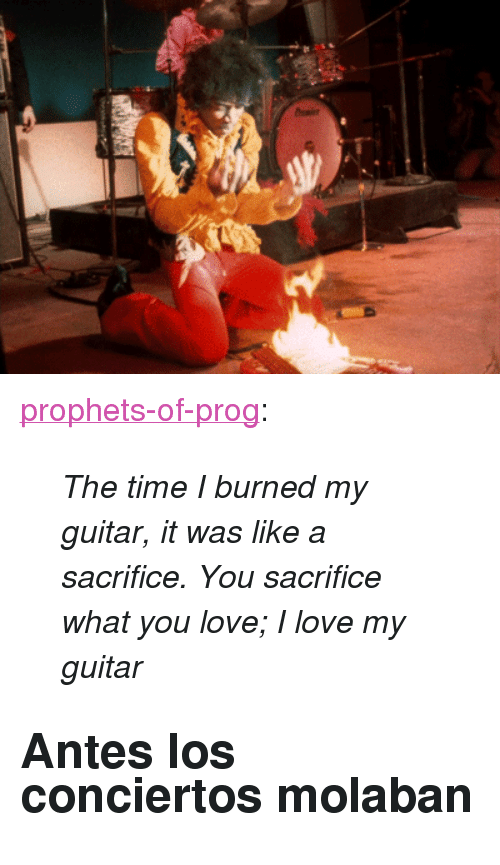 """prog: <p><a href=""""http://prophets-of-prog.tumblr.com/post/154522915257/the-time-i-burned-my-guitar-it-was-like-a"""" class=""""tumblr_blog"""">prophets-of-prog</a>:</p><blockquote><p><i>The time I burned my guitar, it was like a sacrifice. You sacrifice what you love; I love my guitar</i></p></blockquote> <h2>Antes los conciertos molaban</h2>"""
