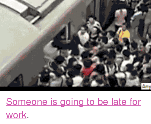 """Going To Be Late: <p><a href=""""http://www.reddit.com/r/gif/comments/1k6xy0/someones_gonna_be_late_for_work/"""" target=""""_blank"""">Someone is going to be late for work</a>.</p>"""