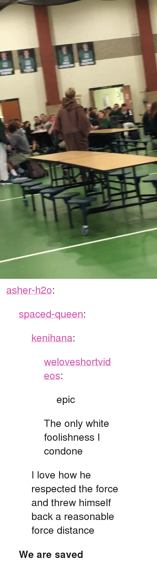 """Condone: <p><a href=""""https://asher-h2o.tumblr.com/post/157070085287/spaced-queen-kenihana-weloveshortvideos"""" class=""""tumblr_blog"""" target=""""_blank"""">asher-h2o</a>:</p><blockquote> <p><a href=""""http://spaced-queen.tumblr.com/post/156420434699/kenihana-weloveshortvideos-epic-the-only"""" class=""""tumblr_blog"""" target=""""_blank"""">spaced-queen</a>:</p> <blockquote> <p><a href=""""http://kenihana.tumblr.com/post/155832946026/weloveshortvideos-epic-the-only-white"""" class=""""tumblr_blog"""" target=""""_blank"""">kenihana</a>:</p> <blockquote> <p><a href=""""http://weloveshortvideos.com/post/154551638817/epic"""" class=""""tumblr_blog"""" target=""""_blank"""">weloveshortvideos</a>:</p>  <blockquote><p> epic</p></blockquote>  <p>The only white foolishness I condone</p> </blockquote>  <p>I love how he respected the force and threw himself back a reasonable force distance</p> </blockquote>  <b>We are saved</b> </blockquote>"""