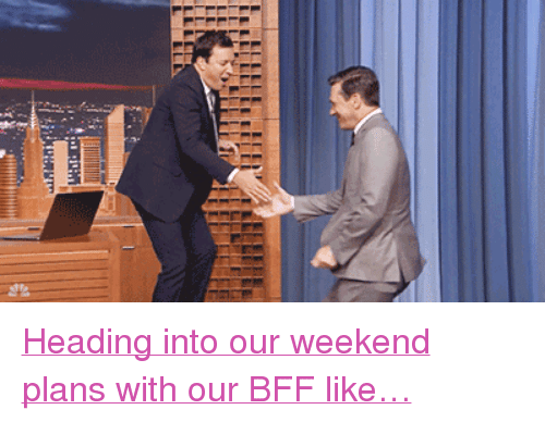 "Weekend Plans: <p><a href=""https://www.youtube.com/watch?v=cC6_ma8nxXw"" target=""_blank"">Heading into our weekend plans with our BFF like&hellip;</a></p>"