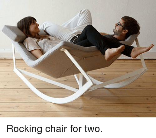 Chair, For, and Rocking Chair: <p>Rocking chair for two.</p>