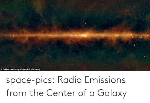 Radio: © Dr Natasha Hurley-Walker (ICRAR/Curtin) space-pics:  Radio Emissions from the Center of a Galaxy