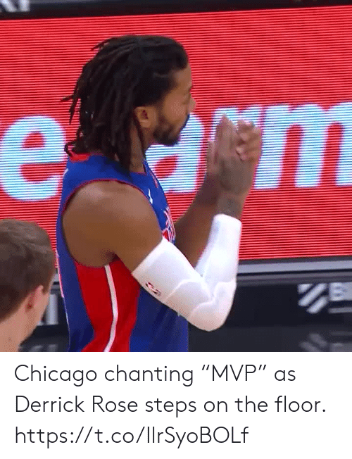 """Chicago: е ст Chicago chanting """"MVP"""" as Derrick Rose steps on the floor.  https://t.co/IlrSyoBOLf"""