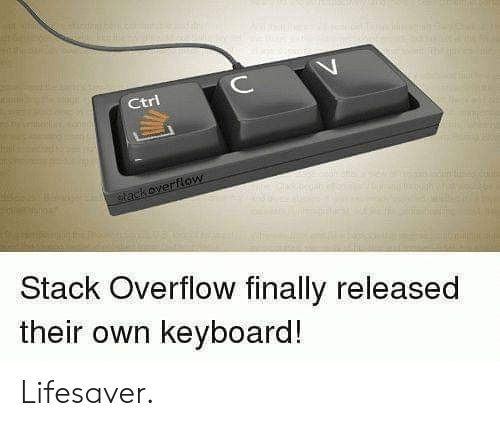 Keyboard, Stack, and Stack Overflow: ИИНН  C  Ctri  tackoverflow  Stack Overflow finally released  their own keyboard! Lifesaver.
