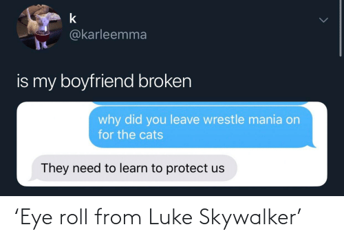 roll: 'Eye roll from Luke Skywalker'