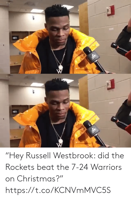 """rockets: """"Hey Russell Westbrook: did the Rockets beat the 7-24 Warriors on Christmas?"""" https://t.co/KCNVmMVC5S"""