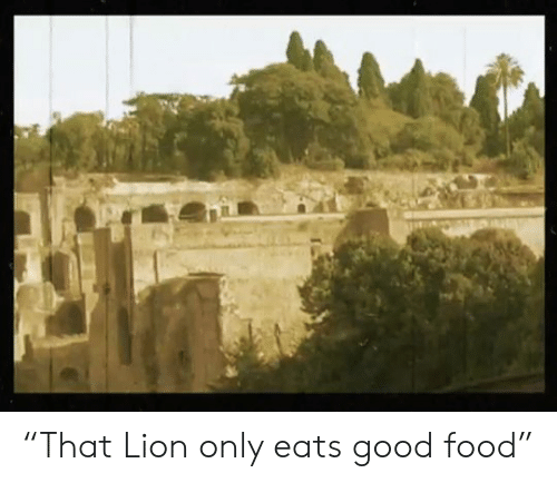 """Lion: """"That Lion only eats good food"""""""