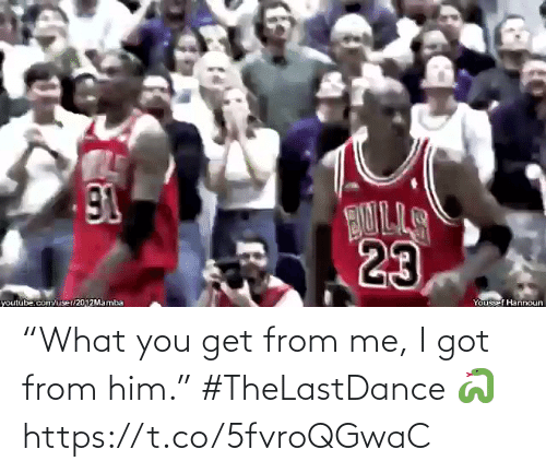 """You Get: """"What you get from me, I got from him.""""   #TheLastDance 🐍  https://t.co/5fvroQGwaC"""