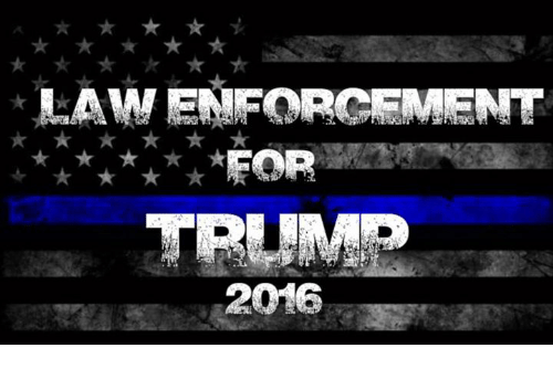 Memes, Trump, and 🤖: ★★女  LAW ENFORCEMENT  ★★★★★★FOR  TRUMP  2016