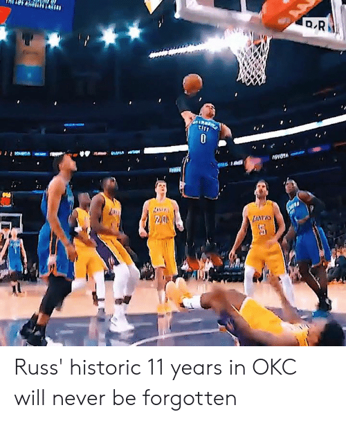 Never, Cit, and Will: ロR  CIT  0  LAHRS Russ' historic 11 years in OKC will never be forgotten