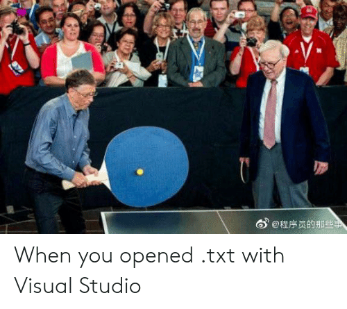 studio: @程序员的那些事 When you opened .txt with Visual Studio