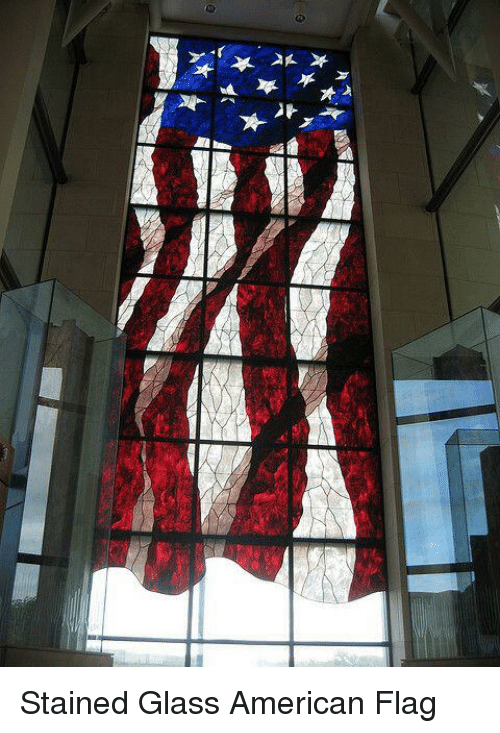 Memes, American Flag, and 🤖: 뇌 *  r  누 Stained Glass American Flag