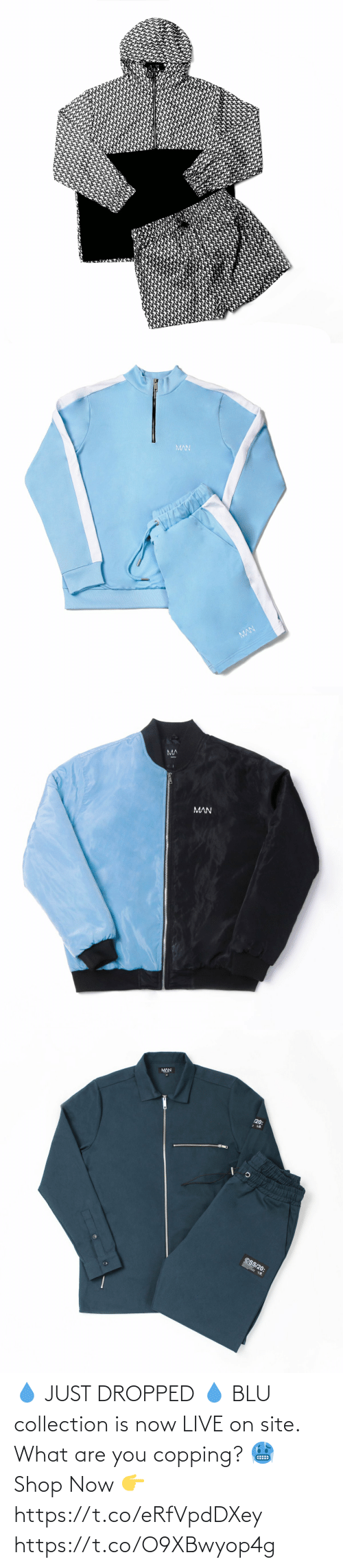 what are: 💧 JUST DROPPED 💧  BLU collection is now LIVE on site. What are you copping? 🥶  Shop Now 👉 https://t.co/eRfVpdDXey https://t.co/O9XBwyop4g