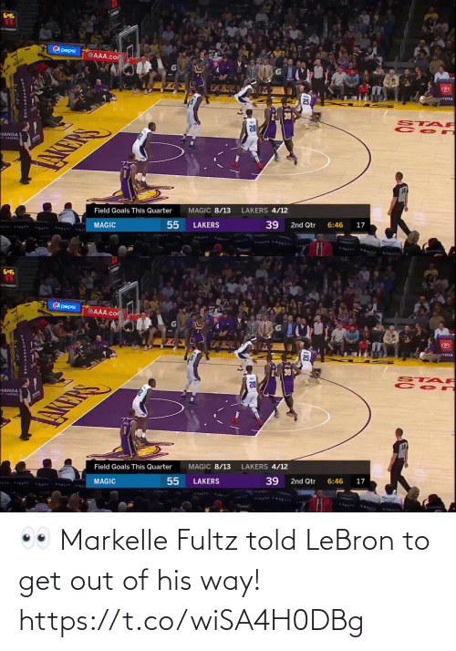 way: 👀 Markelle Fultz told LeBron to get out of his way!  https://t.co/wiSA4H0DBg