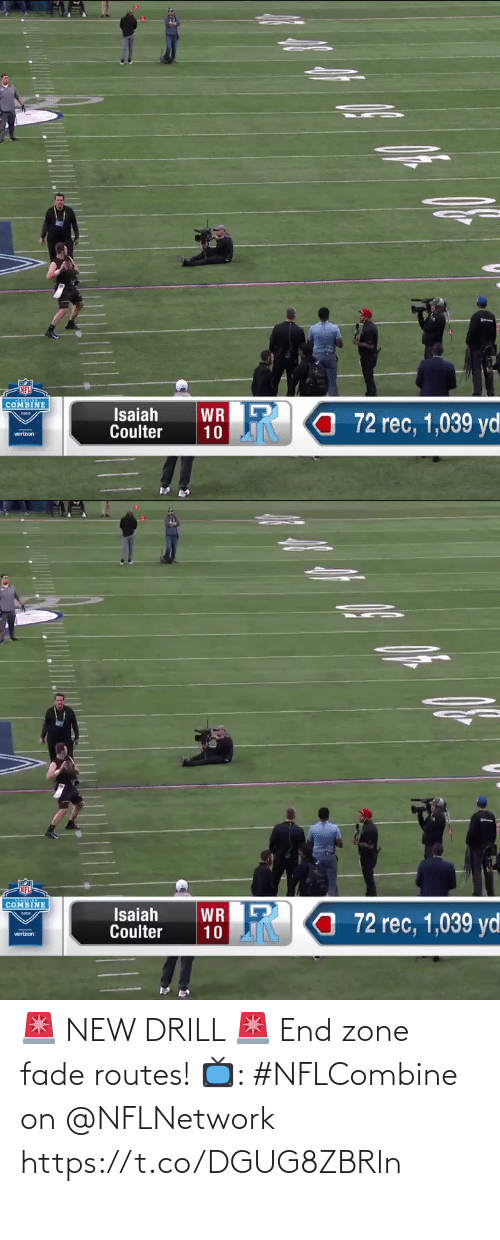nflnetwork: 🚨 NEW DRILL 🚨 End zone fade routes!  📺: #NFLCombine on @NFLNetwork https://t.co/DGUG8ZBRln