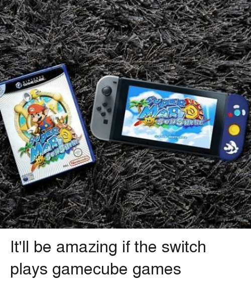 gamecubes: 0 It'll be amazing if the switch plays gamecube games