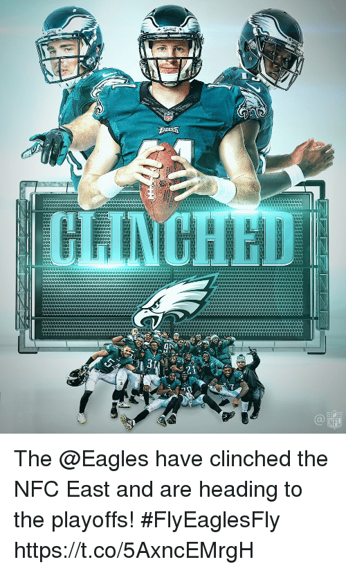 Philadelphia Eagles, Memes, and Nfl: 0  NFL The @Eagles have clinched the NFC East and are heading to the playoffs!  #FlyEaglesFly https://t.co/5AxncEMrgH