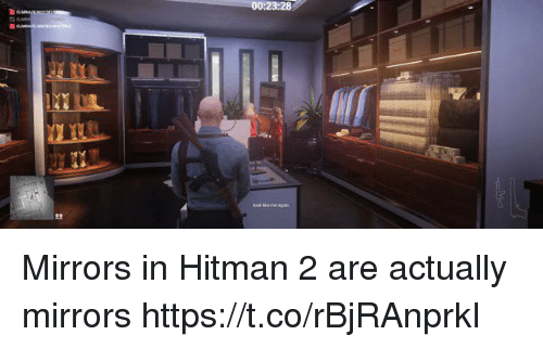002328 Mirrors in Hitman 2 Are Actually Mirrors
