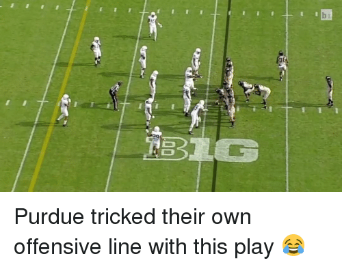 purdue: 00 Purdue tricked their own offensive line with this play 😂