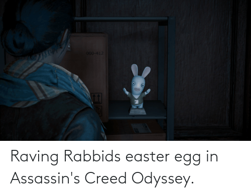 raving: 000-412 Raving Rabbids easter egg in Assassin's Creed Odyssey.