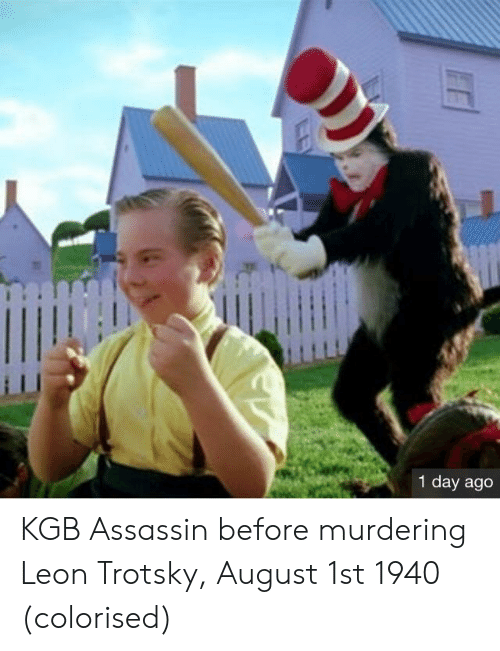 Trotsky: 1  1 day ago KGB Assassin before murdering Leon Trotsky, August 1st 1940 (colorised)