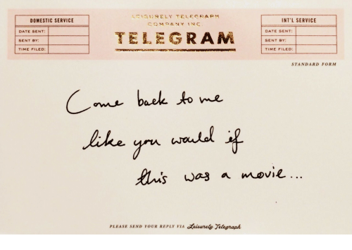 Date, Telegraph, and Time: 1,  13t) R ELY TELEGRAPH  DOMESTIC SERVICE  INT'L SERVICE  DATE SENT:  SENT BY:  TIME FILED:  TELEGRAM  DATE SENT:  SENT BY  TIME FILED:  STANDARD FORM  baek to me  PLEASE SEND YOUR REPLY VIA eisurely Telegraph