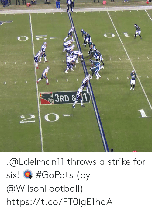 Memes, 🤖, and Strike: 10  20  29  3RD &1  2 0 .@Edelman11 throws a strike for six! 🎯 #GoPats  (by @WilsonFootball) https://t.co/FT0igE1hdA