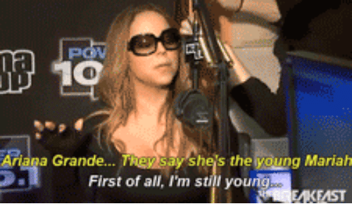 Ariana, All, and First: 10  Ariana  Sheis the young Mariah  Grande...  First of all, I'm stil yourng