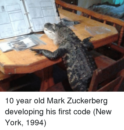 Mark Zuckerberg, New York, and Old: 10 year old Mark Zuckerberg developing his first code (New York, 1994)