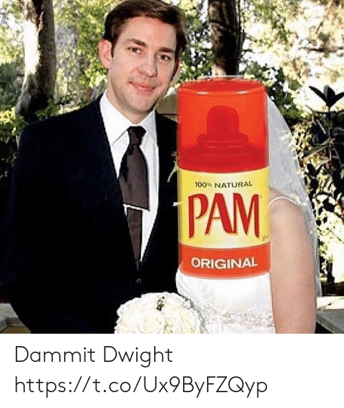 Dammit: 100% NATURAL  PAM  ORIGINAL Dammit Dwight https://t.co/Ux9ByFZQyp