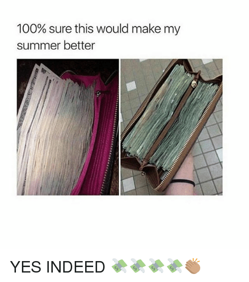 Anaconda, Memes, and Summer: 100% sure this would make my  summer better YES INDEED 💸💸💸💸👏🏽