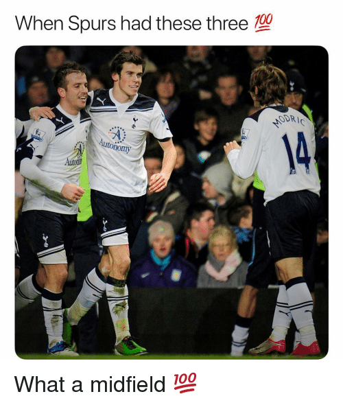 Anaconda, Memes, and Spurs: 100  When Spurs had these three  ODR  nomy What a midfield 💯