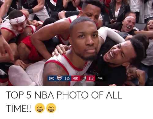 Nba, Time, and Top: 118 FINAL  OKC TOP 5 NBA PHOTO OF ALL TIME!! 😁😁