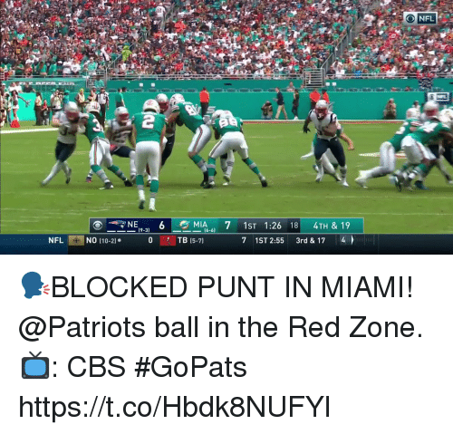 Memes, Nfl, and Patriotic: 12  NFL  MIA.. 7 1ST 1:26 18 4TH & 19  (9-3)  NFL  NO (10-21  TB 15-7)  7 1ST 2:55 3rd & 17 4 🗣BLOCKED PUNT IN MIAMI!  @Patriots ball in the Red Zone.  📺: CBS #GoPats https://t.co/Hbdk8NUFYl