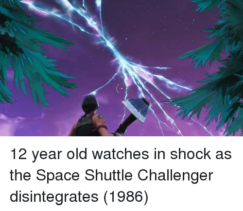 In Shock: 12 year old watches in shock as the Space Shuttle Challenger disintegrates (1986)