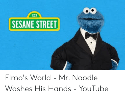 123 Sesame Street Elmo S World Mr Noodle Washes His Hands