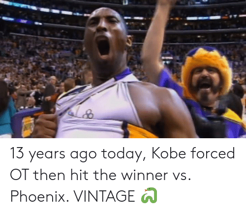 Kobe, Phoenix, and Today: 13 years ago today, Kobe forced OT then hit the winner vs. Phoenix. VINTAGE 🐍