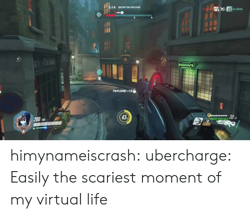 Blade, Life, and Tumblr: :14 EScoRT THE PAYIOAD  cy Blade  PAYLOAD +10  43 himynameiscrash:  ubercharge:    Easily the scariest moment of my virtual life