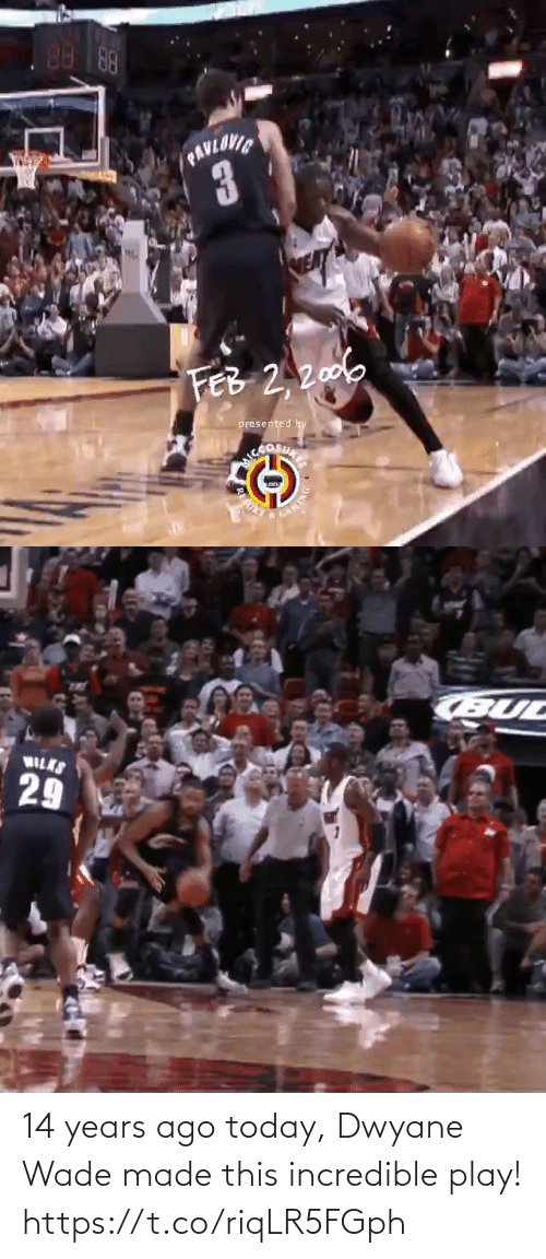 incredible: 14 years ago today, Dwyane Wade made this incredible play!  https://t.co/riqLR5FGph