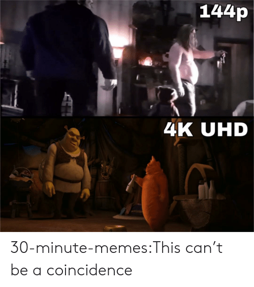 A Coincidence: 144p  4K UHD 30-minute-memes:This can't be a coincidence