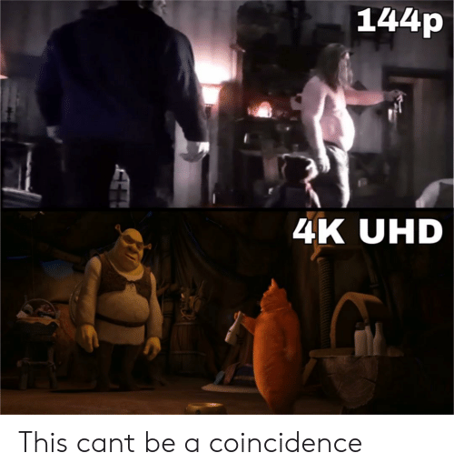 A Coincidence: 144p  4K UHD This cant be a coincidence