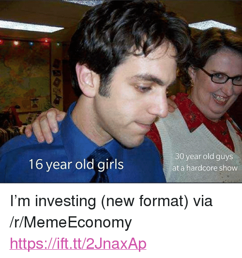 """Girls, Old, and Via: 16 year old girls  30 year old guys  at a hardcore show <p>I'm investing (new format) via /r/MemeEconomy <a href=""""https://ift.tt/2JnaxAp"""">https://ift.tt/2JnaxAp</a></p>"""