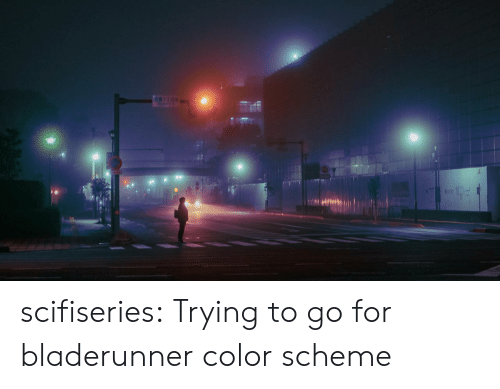 Tumblr, Blog, and Com: 17E scifiseries:  Trying to go for bladerunner color scheme