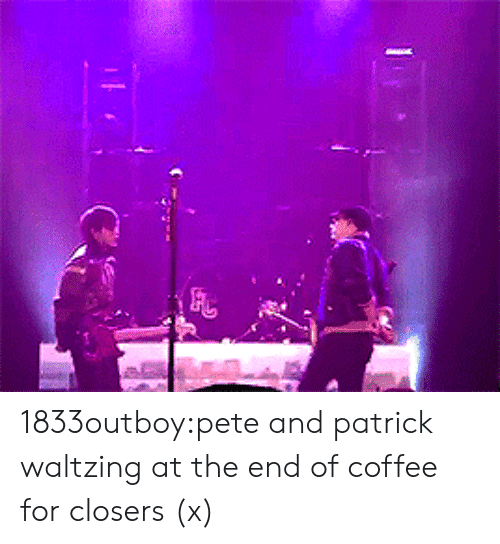 Closers: 1833outboy:pete and patrick waltzing at the end of coffee for closers(x)