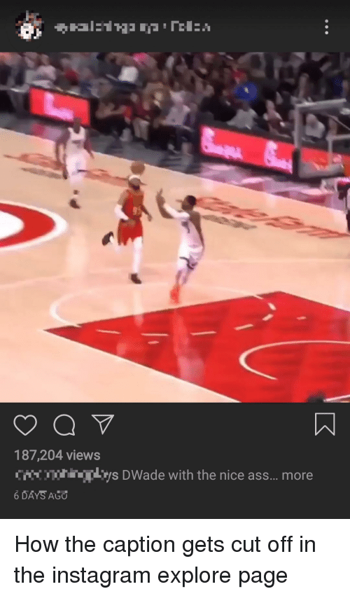 Ass, Instagram, and Nice: 187,204 views  ys DWade with the nice ass... more  6 DAYS AGO