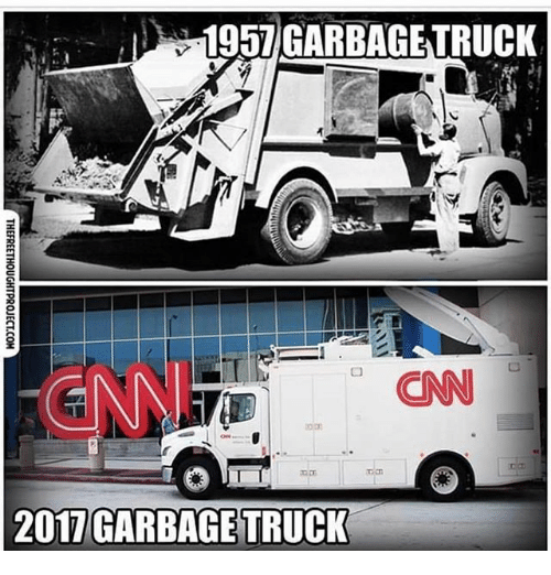 cnn.com, Memes, and 🤖: 1957GARBAGETRUCK  INN  CNN  2017 GARBAGE TRUCK
