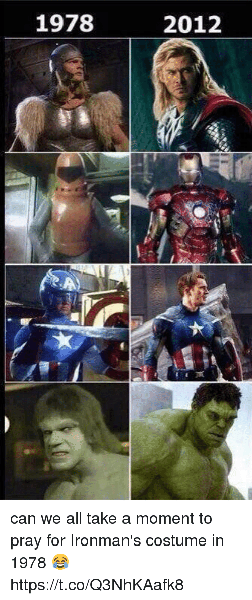 Funny, Can, and All: 1978  2012 can we all take a moment to pray for Ironman's costume in 1978 😂 https://t.co/Q3NhKAafk8