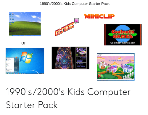 1990 S2000 S Kids Computer Starter Pack Miniclip Coolmath Games Or